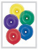 "Geo Donut 16"" Radiant Jewel Assortment Latex Balloons - 50 Ct"