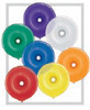 "Geo Donut 16"" Jewel Assortment Latex Balloons - 50 Ct"