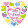 "18"" Mothers Day Flowered Hearts Mylar Foil Balloon"