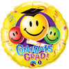 "18"" Grad Smiley Faces Mylar Foil Balloon"