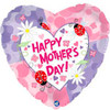 "18"" Mothers Day Ladybugs & Dots Mylar Foil Balloon"