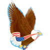 "31"" Patriotic Eagle Shape Mylar Foil Balloon"