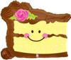 "31"" Cake Slice Shape Mylar Foil Balloon"