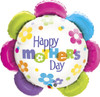 "32"" Mother's Day Fun Flowers Shape Mylar Foil Balloon"