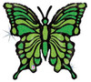 "33"" Lime Green Butterfly Shape Mylar Foil Balloon"