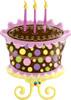 "38"" Birthday Decorated Cake Shape Mylar Foil Balloon"
