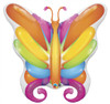 "40"" Butterfly Brilliant Shape Mylar Foil Balloon"