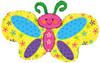 "42"" Spring Butterfly Shape Mylar Foil Balloon"