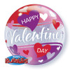 "22"" Valentine Red and Pink Hearts Bubble Balloon"