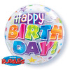 "22"" Bubble Birthday Party Patterns Mylar Foil Balloon"