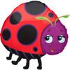 "25"" Miss Ladybug Shape Mylar Foil Balloon"