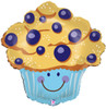 """27"""" Blueberry Muffin Shape Mylar Foil Balloon"""