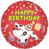 "18"" Birthday Puppy Party Mylar Foil Balloon (single-sided)"