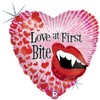 "18"" Love At First Bite Mylar Foil Balloon"