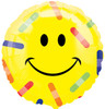 "18"" Smiley Face Bandages Mylar Foil Balloon (single-sided)"