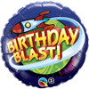 "18"" Birthday Blast In Space Mylar Foil Balloon"