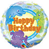 "18"" Birthday Fun Creatures Mylar Foil Balloon"
