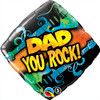 "18"" Dad You Rock Mylar Foil Balloon"