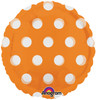 "18"" Dots Orange (Magicolor) Mylar Foil Balloon"