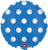 "18"" Dots Blue (MagiColor) Mylar Foil Balloon"