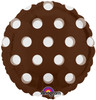 "18"" Dots Brown (MagiColor) Mylar Foil Balloon"