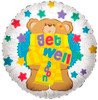 "18"" Get Well Soon Bear Mylar Foil Balloon"