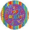 "18"" Birthday Festive Mylar Foil Balloon"