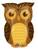 "18"" Owl Junior Shape Mylar Foil Balloon"
