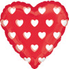 "18"" Clearly Hearts (Magicolor) Mylar Foil Balloon"