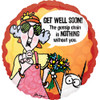 "18"" Maxine Get Well Mylar Foil Balloon"