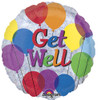 "18"" Get Well Mylar Foil Balloon (Holographic)"