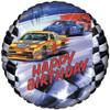 """18"""" Birthday Stock Car Mylar Foil Balloon"""