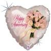 "18"" Anniversary Bouquet Mylar Foil Balloon"