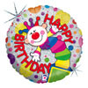 "18"" Jack In The Box Birthday Mylar Foil Balloon"