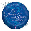 "18"" Thoughts and Prayers Mylar Foil Balloon"