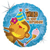 "18"" Birthday Monkey Go Wild Mylar Foil Balloon"