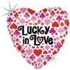 "18"" Lucky In Love Mylar Foil Balloon"