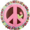 "18"" Peace Sign Hippie Chick Mylar Foil Balloon"