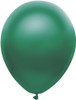 "Round 11"" Satin Forest Green Balloons - 100 Ct Bag"