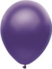 "Round 11"" Satin Purple Balloons - 100 Ct Bag"