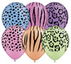 "11"" Safari Neon Assortment Latex Balloons"