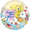 "18"" Looney Tunes Another Year Cuter Birthday Mylar Foil Balloon"
