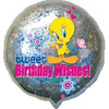 "18"" Tweet Birthday Wishes Mylar Foil Balloon"