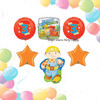 6 Balloon Bob the Builder Combo Package Mylar Foil Balloons - Age 3