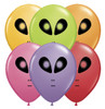 "5"" Alien Head Festive Assortment Halloween Latex Balloons"