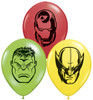 "5"" Marvel Heroes Latex Balloons"