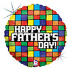 "18"" Father's Day Mosaic Mylar Foil Balloon"