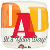 "18"" It's Your Day! Dad Mylar Foil Balloon"