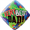 "18"" Very Best Dad Mylar Foil Balloon"