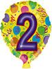 """18"""" Balloon Shaped """"2"""" Mylar Foil Balloon"""